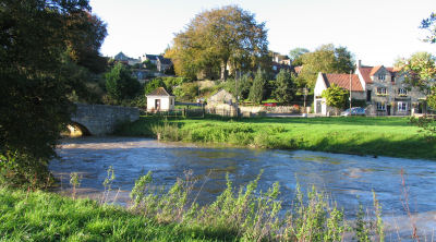 The Inn by the river Frome Bridge at Freshford Somerset
